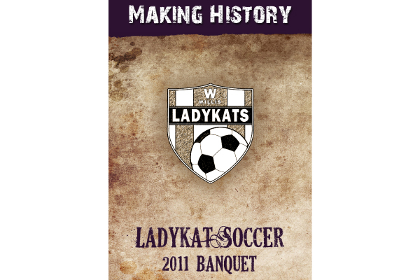 2011 Ladykat Soccer Banquet Program Cover Sports Marketing - G2 - Event Program