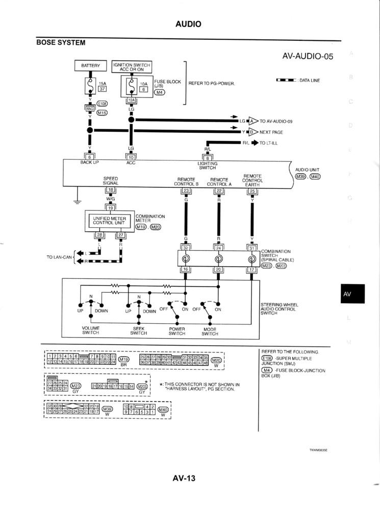 infiniti bose wiring diagram