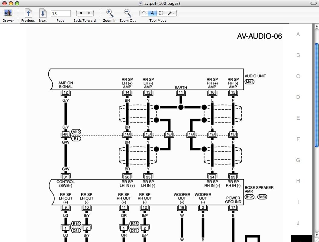 radio wiring harness diagram on infiniti g35 audio wiring diagram