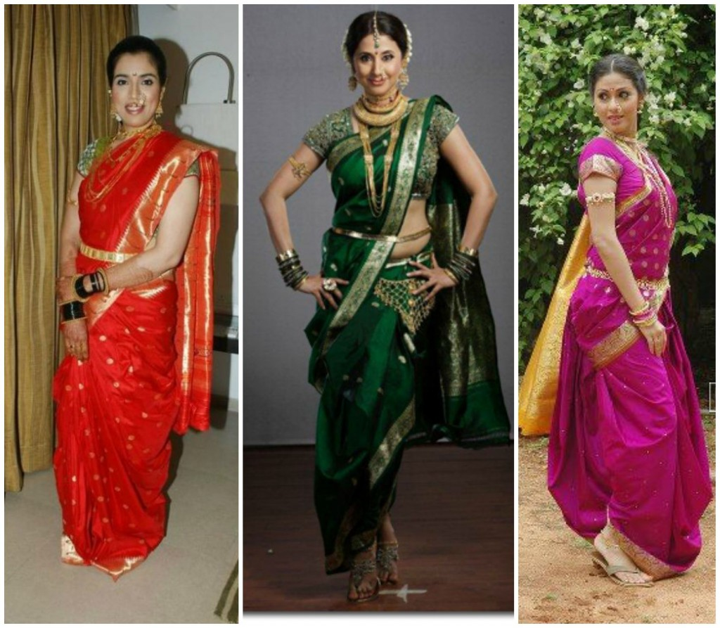 How to drape marati style saree maharastrian saree draping styles