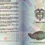 Nuevo Pasaporte Colombia