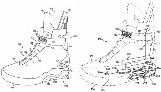 Nike intenta patentar zapatos de Back to the Future II