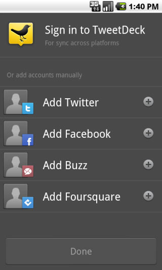 TweetDeck for Google Android
