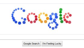 Doodle logo de Google animado en particulas