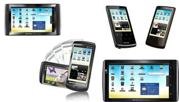 Nuevos dispositivos tactiles Archos Android 2.2