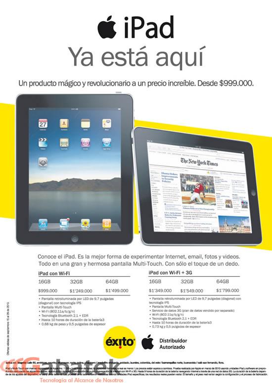 Precio Apple iPad Almacenes Exito