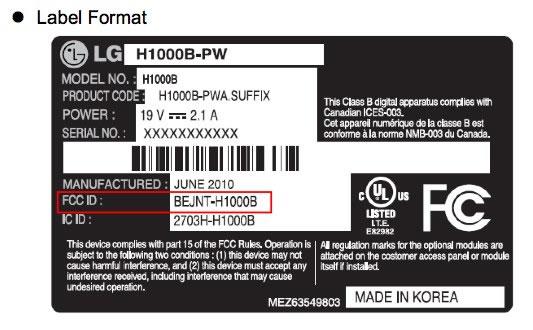 LG H1000B tablet con Windows 7