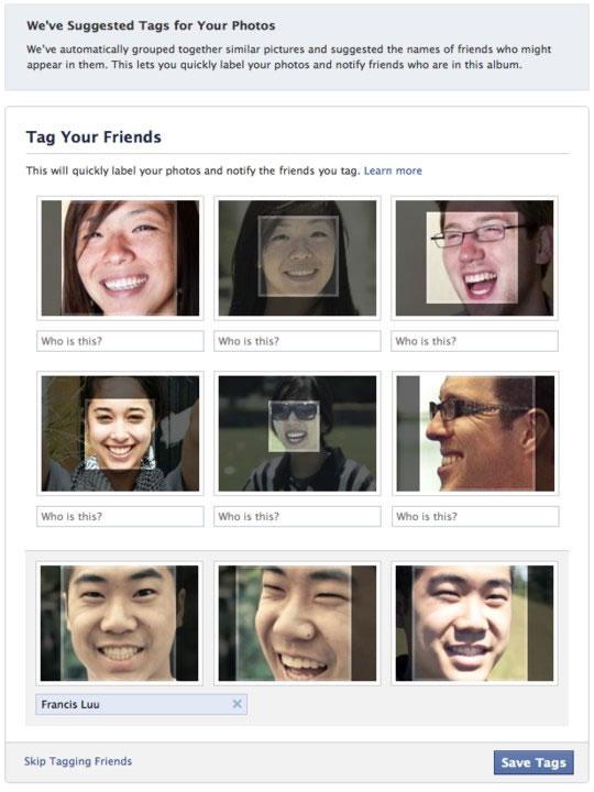 Reconocimiento Facial en Fotos de Facebook