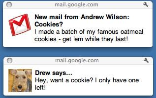 Notificaciones de escritorio de Gmail en HTML5