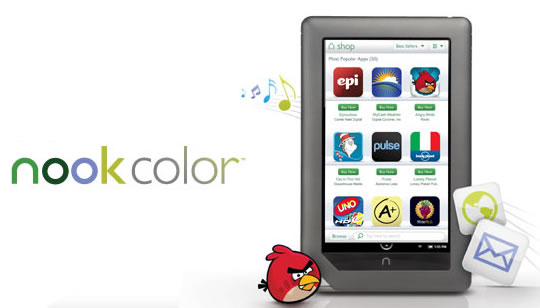 Nook Color con Apps y Android 2.2