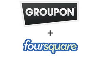 Groupon y Foursquare