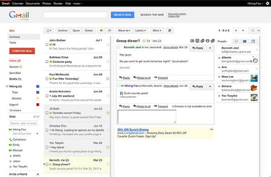 Gmail Panel de Vista Previa