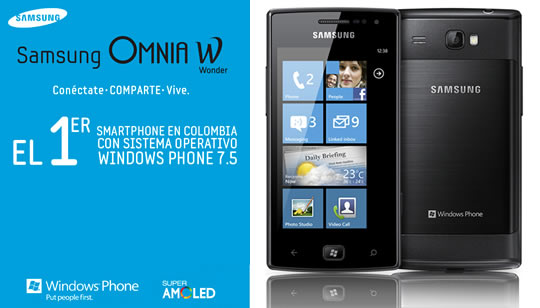 Samsung Omnia W Colombmia