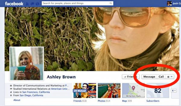 Facebook Botón Llamada