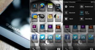 Interfaz BlackBerry 10