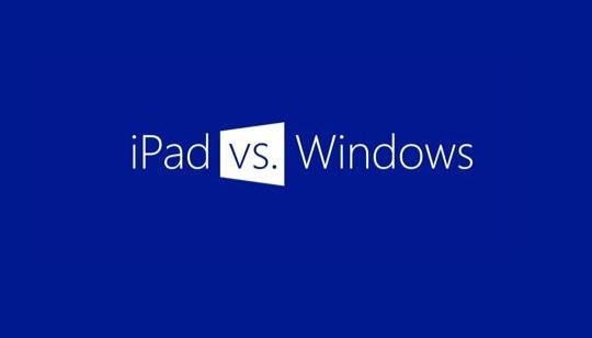 Comparación iPad Windows