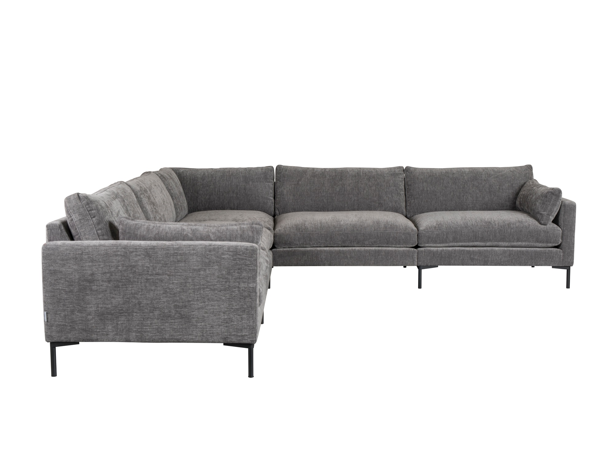 Zuiver Sofa Summer 7 Sitzer In Stoff Anthrazit Ecksofa