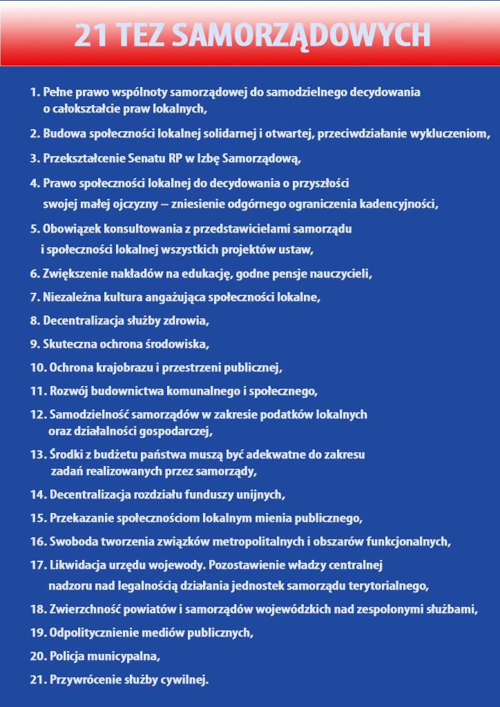 21 tez samorzadowych