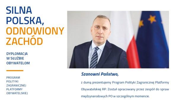 czołówka na www polecam politykka zagraniczna PO