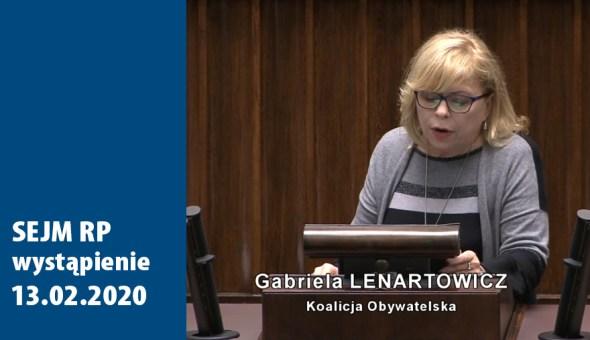 wystapienie Sejm 13.02.2020.czołówka działy