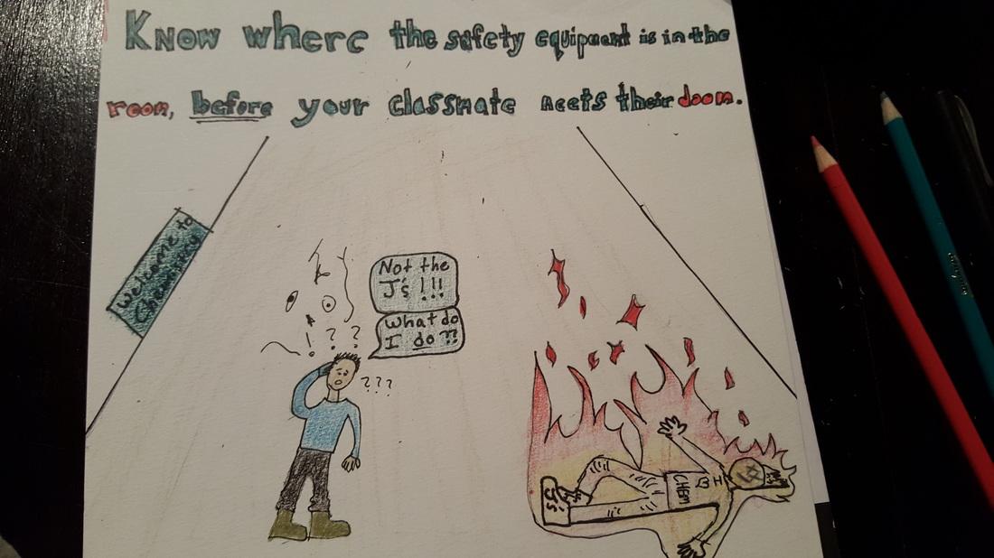 Chemistry Lab Safety Poster - Gabriel M - chemistry safety