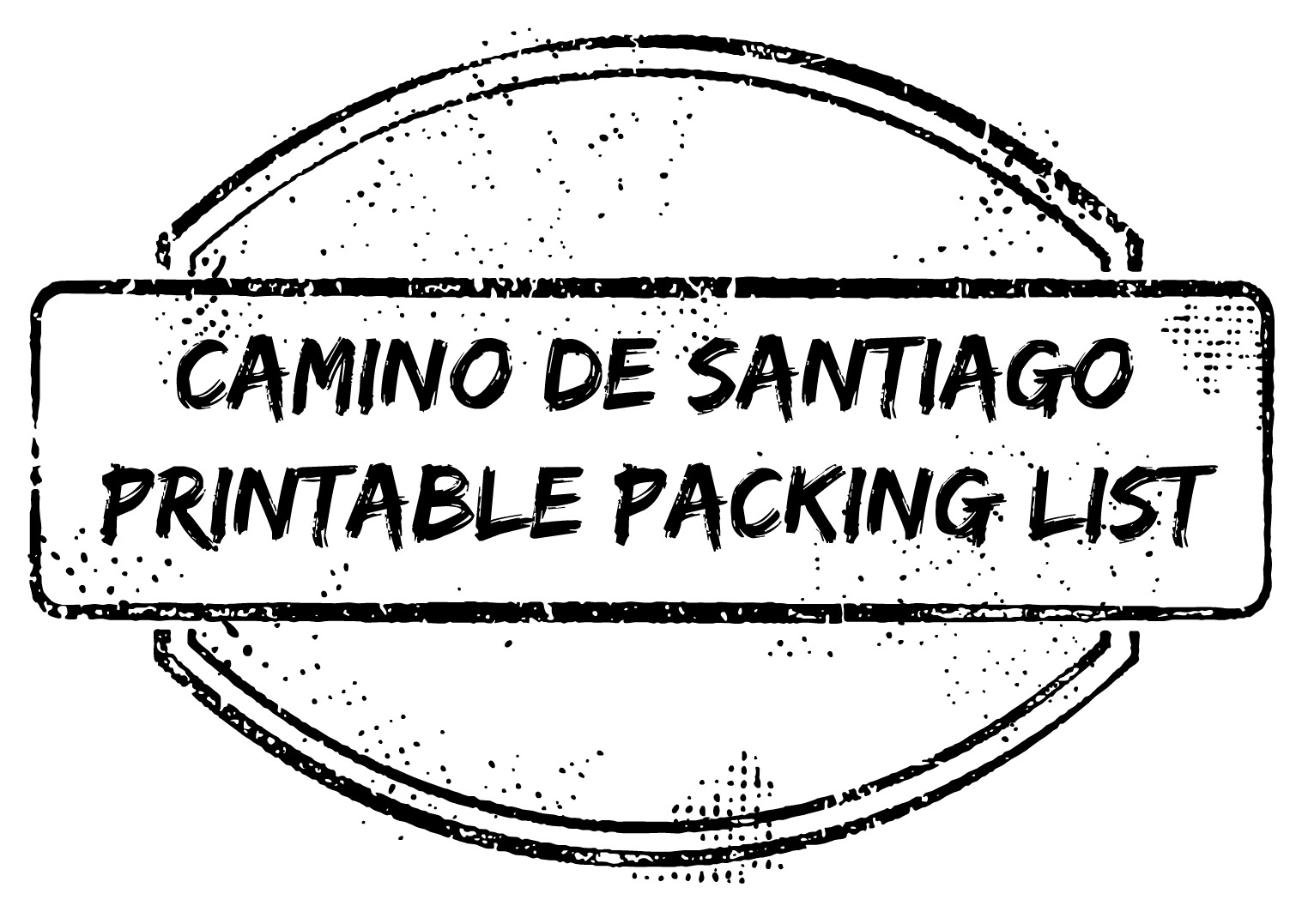 Camino Santiago Packing List Camino De Santiago Printable Packing Checklist Gabriel Schirm