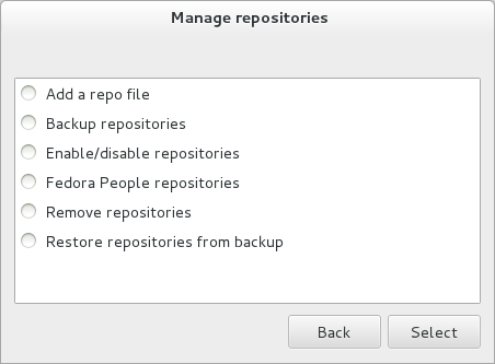 Manage repositories