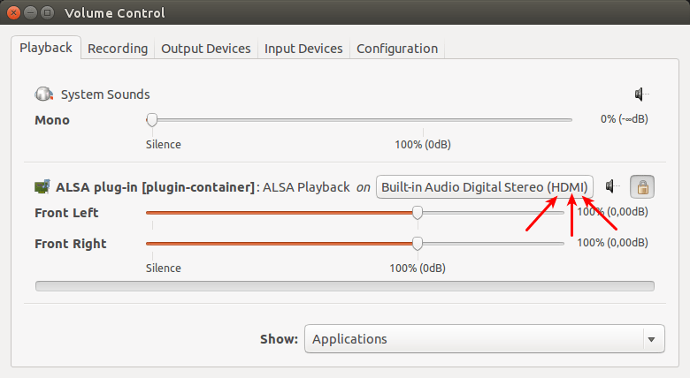 Cómo transmitir audio a través de HDMI en Ubuntu 14.04