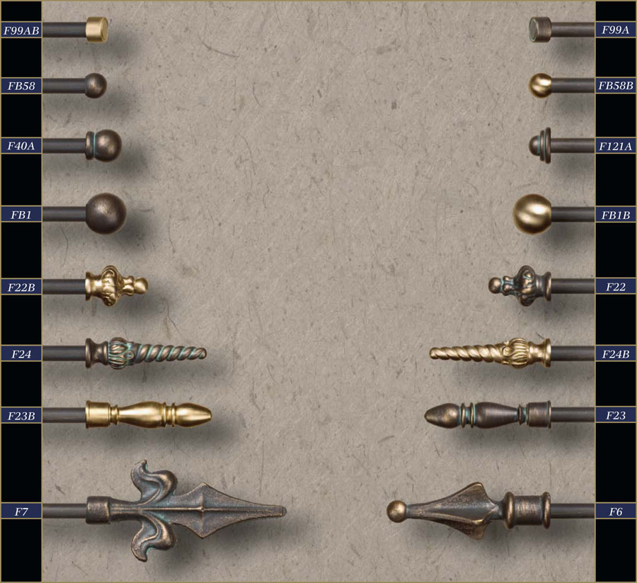 Cheap Finials For Curtain Rods Wholesale 3 8 Wrought Iron Curtain Rods Finials Gaby S Shoppe