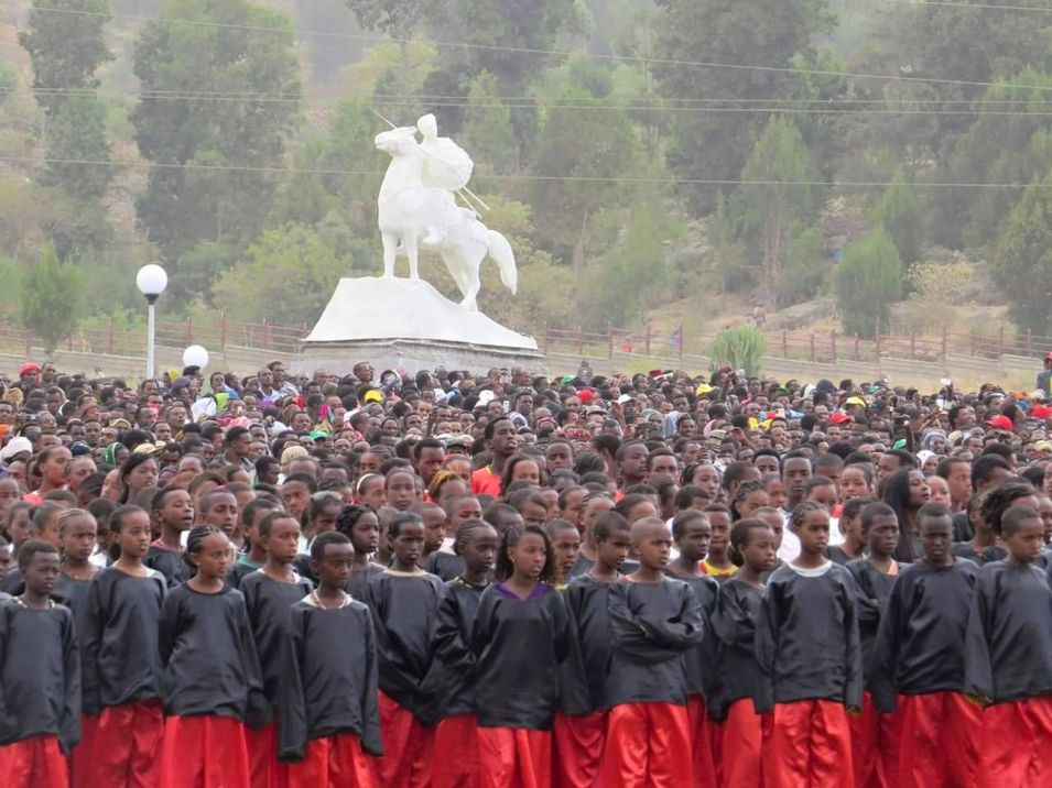 Oromo Children of the Qondaala Grade (of Gadaa) Sing at the Unveiling of the Calanqoo Memorial & Bakhar Waaree Statue