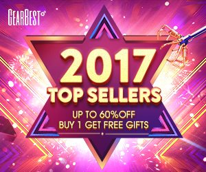 Gearbest 2017 Top Sellers, Buy One Get Free Gifts promotion