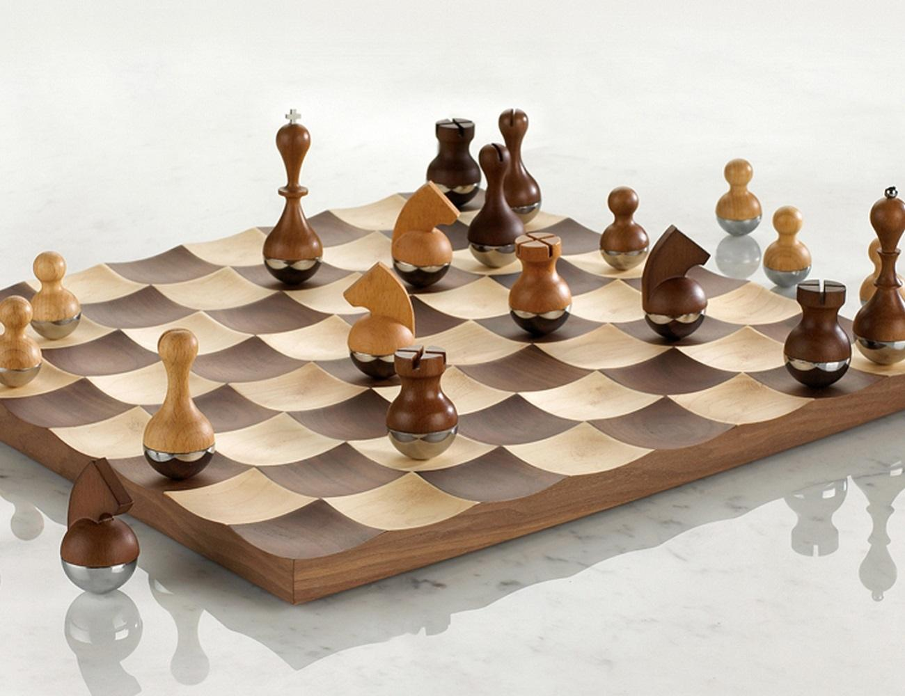 Chess Boards For Sale Amazon Wobble Chess Set By Umbra Gadget Flow