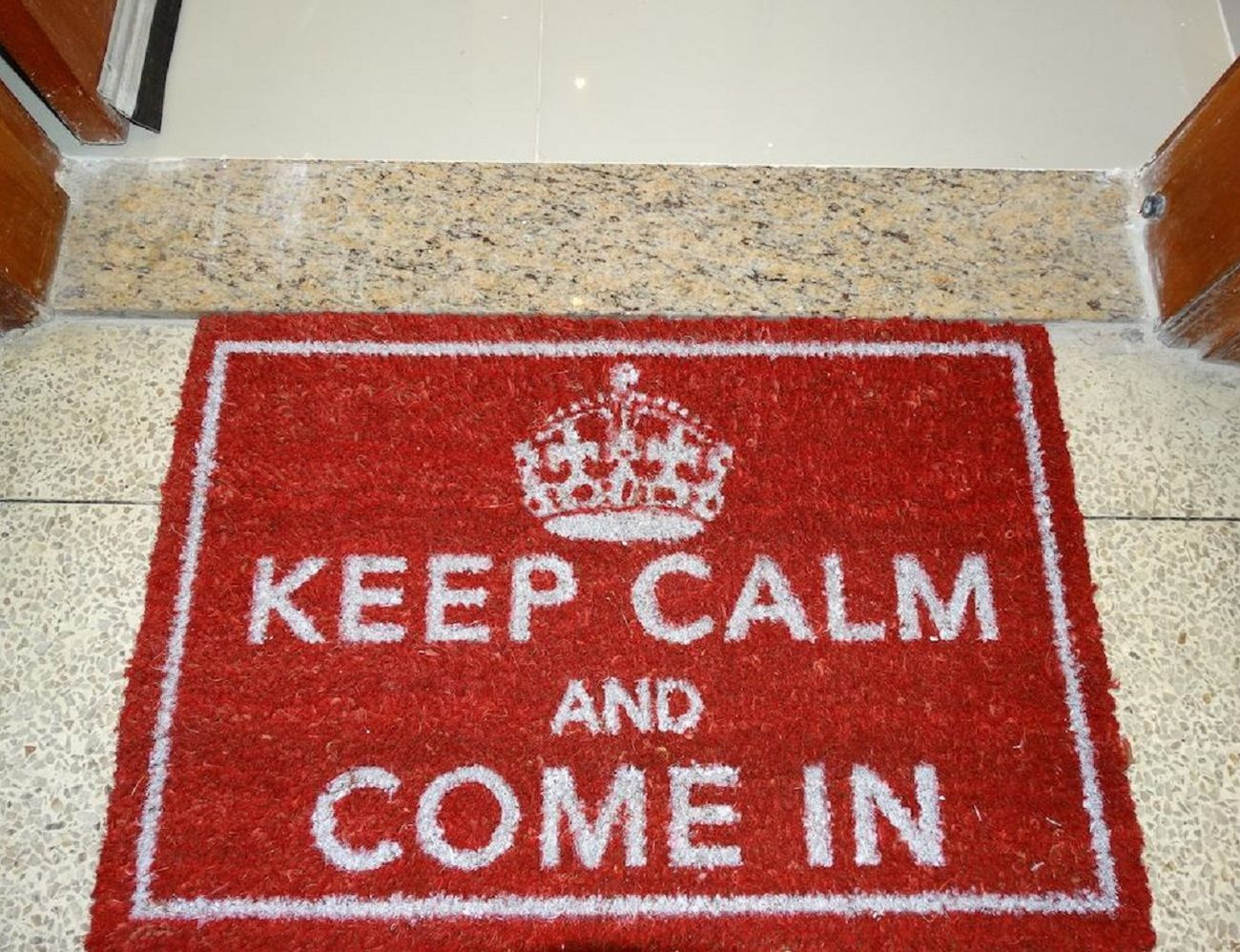 Leave Welcome Mat Keep Calm And Come In Door Mat Gadget Flow