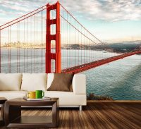 Golden Gate Bridge Wall Mural Decal  Gadget Flow