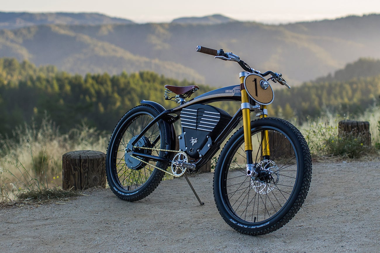 E On Electric Vintage Electric Scrambler Electric Bike Gadget Flow
