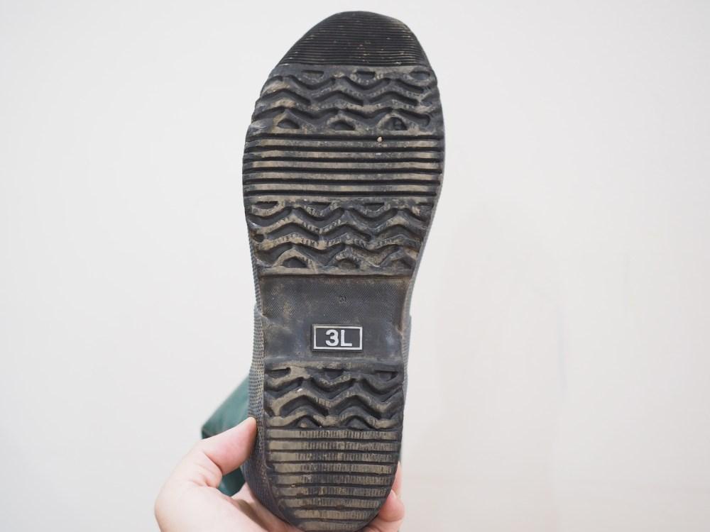 野鳥の会長靴ソール