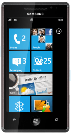 Samsung Omnia powered by Windows Phone 7