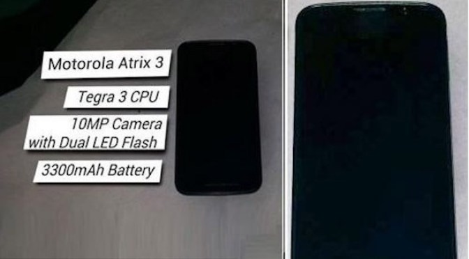 Rumoured Atrix 3 - Specs, Pictures, India Price