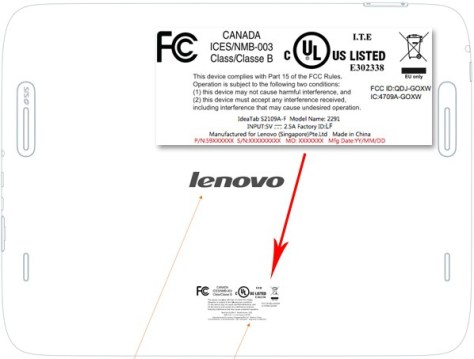 Lenovo Ideapad S2109 Back FCC Pictures
