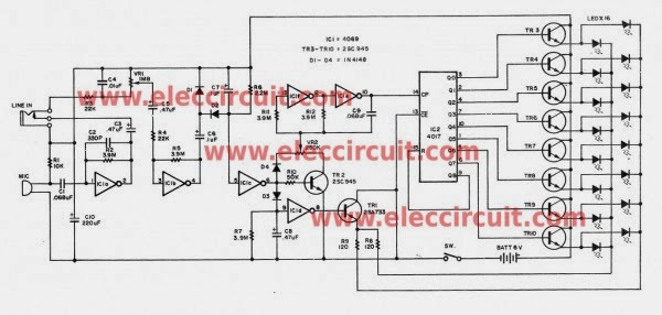 Six Simple LED Lighting Circuit for Christmas - Gadgetronicx