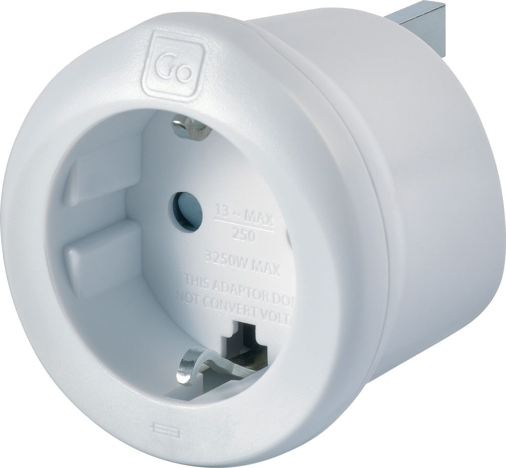 Travel Adapter Eu To Uk Go Travel Earthed European To Uk Adaptor Eu To Uk Converter Adapter Ref 540