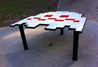 Handmade Pacman Ghost Coffee Table   Gadgetsin
