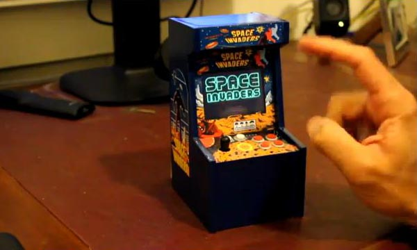 Cabinet Homemade Space Invaders Mini Arcade Cabinet | Gadgetsin