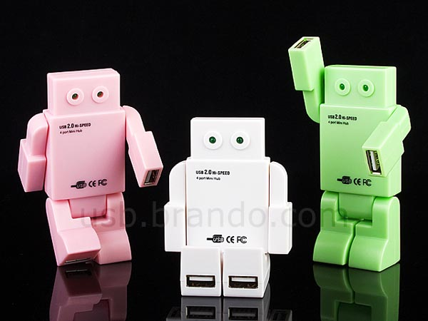 Smart Lights Robot Shaped 4-port Usb Hub | Gadgetsin