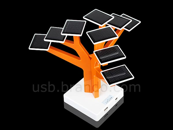 Led Panels Solar Charger Tree For Usb Gadgets | Gadgetsin