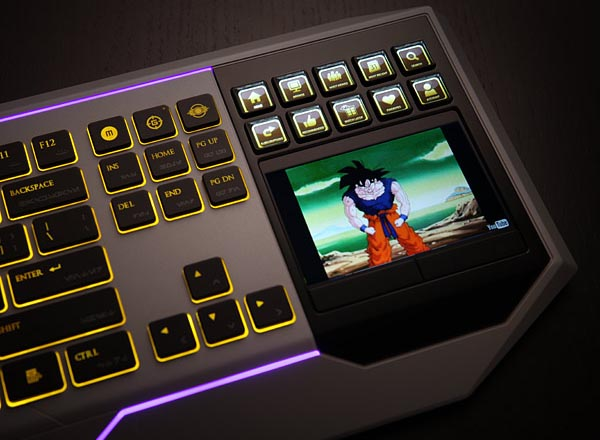 Retro Led Star Wars Computer Keyboard With Lcd Touchpad | Gadgetsin
