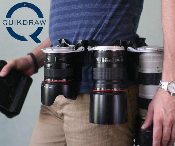 Quickdraw Dslr Camera Lens Holster Gadgetsin