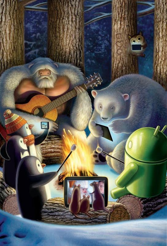 Iphone Wallpaper Apple Hd Happy Holiday Cards From Google Nexus Gadgetsin