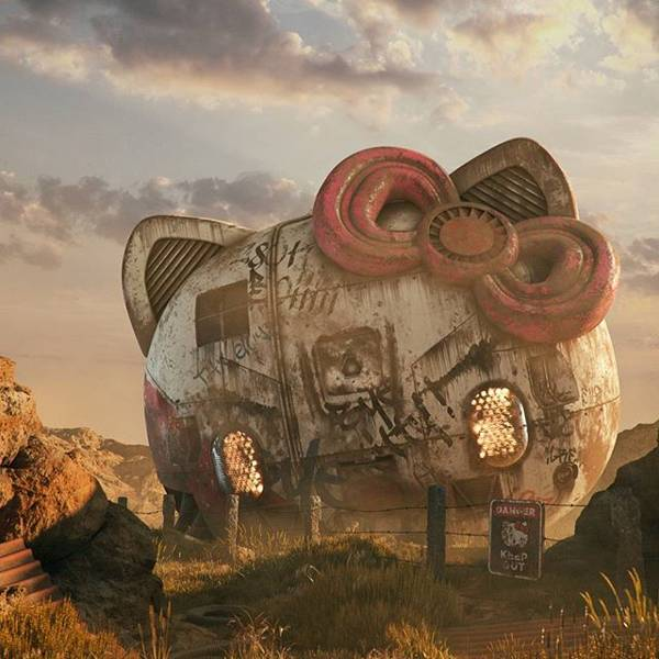 Digital Poster The Post Apocalyptic 3d Pop Culture Sculptures Created By