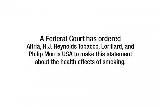 See the Anti-Smoking TV Ads Big Tobacco Is Forced to Run CMO - Master Settlement Agreement